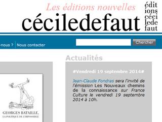 Éditions Cécile Defaut